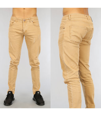 Camel Heren Jeans met Krassen