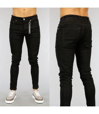 NEW1802 Basic Zwarte Heren Skinny Jeans