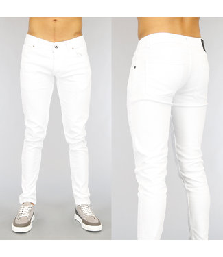 NEW1802 Witte Slim Fit Heren Jeans