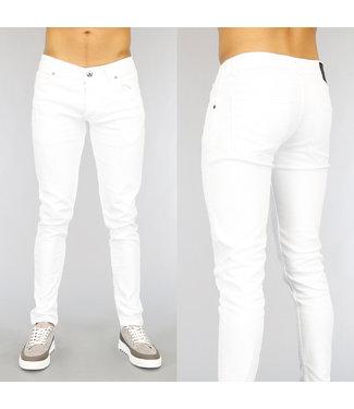 !OP=OP Witte Slim Fit Heren Jeans