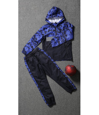 NEW1802 Navy Kids Tracksuit met Camouflageprint