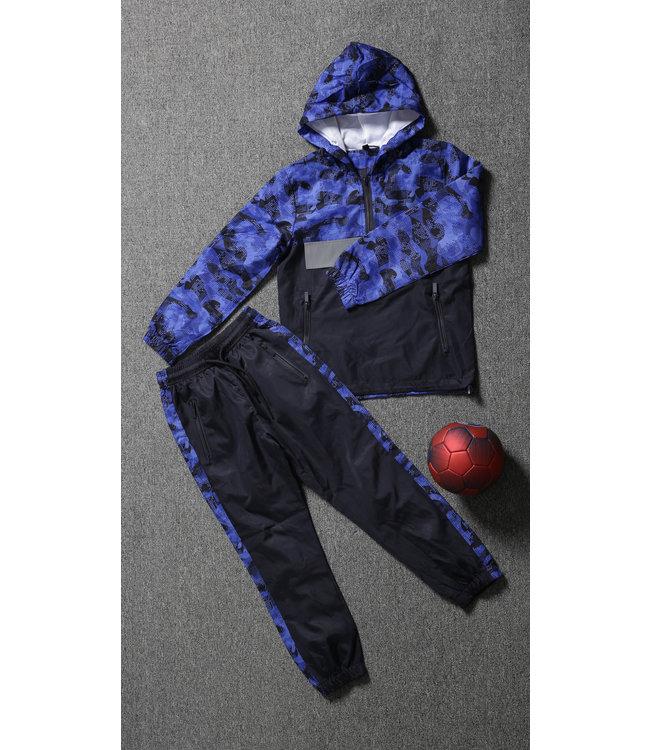 Navy Kids Tracksuit met Camouflageprint