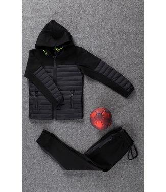 Zwart Kids Trainingspak met Vest