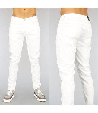 NEW1802 Basic Witte Slim Fit Heren Jeans