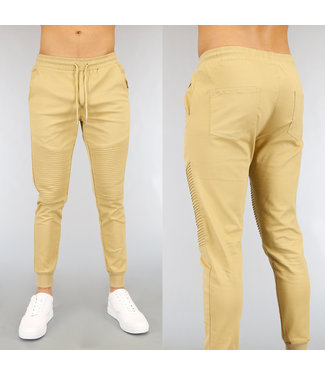 NEW2502 Camel Stretch Heren Jogger met Ribbels