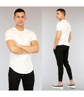 NEW! Wit Heren T-Shirt met Grafische Opdruk