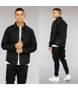 !OP=OP Zwarte Damaged Heren Jeans Blouse