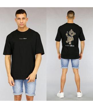 NEW1803 Zwart Oversized Heren Evil Bear Shirt