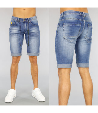 NEW1803 Lichtblauw Basic Heren Short met Veter