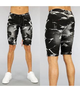 !OP=OP Old Look Heren Jeans Short met Scheuren