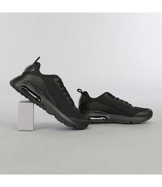 Zwarte Heren Sneakers met Lucht Zool