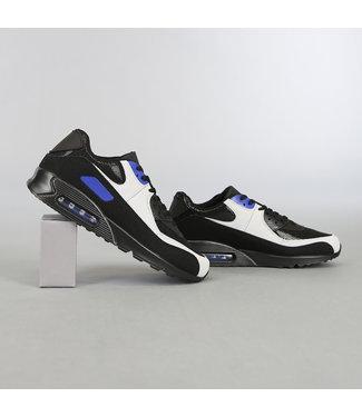 Zwart/Blauwe Heren Sneakers met Lucht Zool