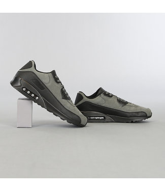 Grijze Suède-Look Heren Sneakers met Lucht Zool