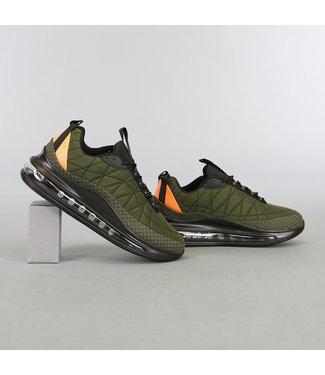 Groene Heren Sneakers met Grove Zwarte Zool