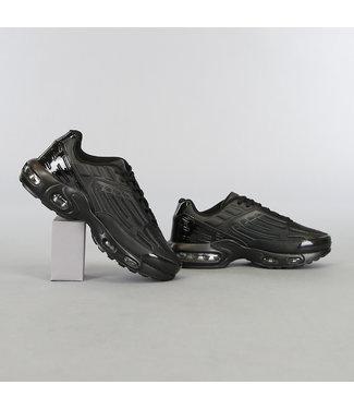 Zwarte Grafische Heren Sneakers