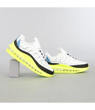 Witte Heren Sneakers met Grove Neon Zool