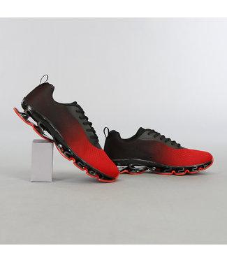 NEW2603 Rode Heren Sneakers met Open Zool