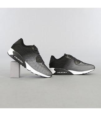 Zwart/Witte Heren Lucht Sneakers met Stippen Veters