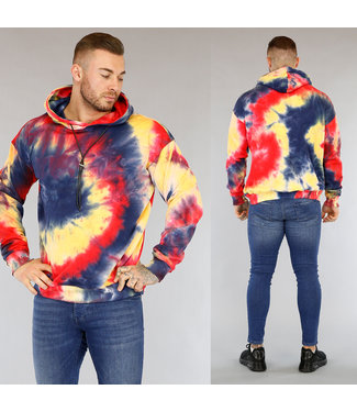 NEW2603 Multicolor Tie Dye Heren Hoodie