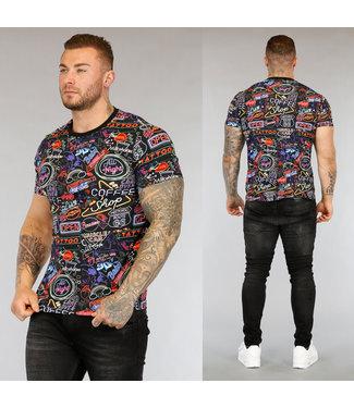!OP=OP Led Light Heren T-Shirt met Print