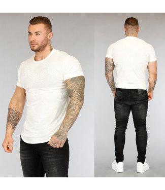 Wit Heren T-Shirt met Opdruk