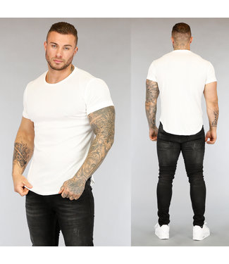Wit Gemêleerd Heren T-Shirt