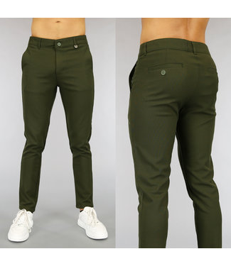 NEW0705 Casual Groene Heren Pantalon