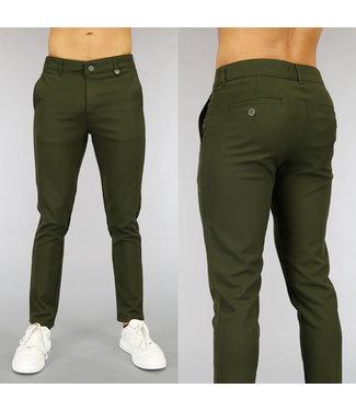 !OP=OP Casual Groene Heren Pantalon