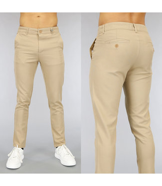 NEW0705 Casual Beige Heren Pantalon