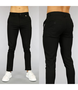 NEW0705 Casual Zwarte Heren Pantalon