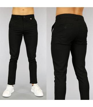 !OP=OP Casual Zwarte Heren Pantalon