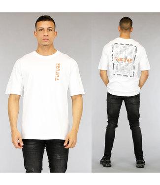 NEW0705 Wit Future Heren T-Shirt met Print
