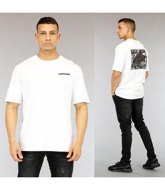 NEW0705 Wit Sharingan Heren T-Shirt met Print