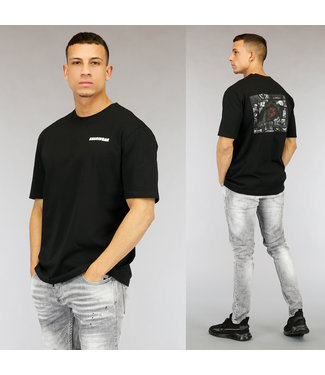 NEW0705 Zwart Sharingan Heren T-Shirt met Print
