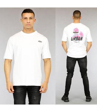 NEW0705 Wit Urban Heren T-Shirt met Print