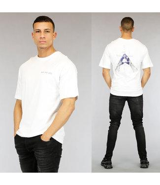 NEW0705 Wit Know Your Mind Heren T-Shirt met Print