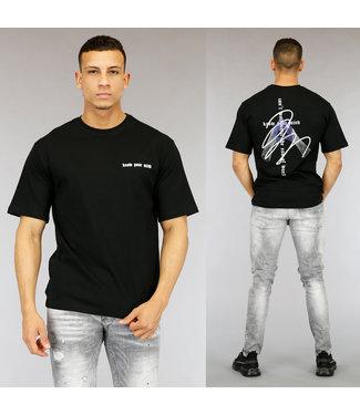 NEW0705 Zwart Know Your Mind Heren T-Shirt met Print