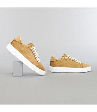 Camel Heren Ribstof Sneakers
