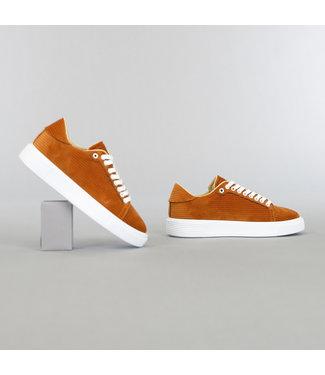 Bruine Heren Ribstof Sneakers