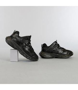 NEW2105 Zwarte Grove Heren Sneakers met Dubbele Veter