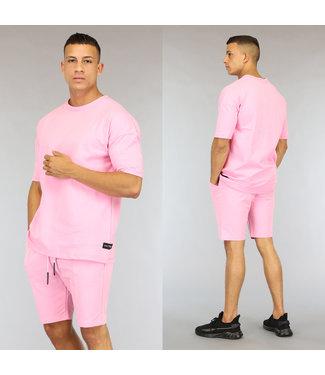 !OP=OP Oversized Roze Heren Short Set