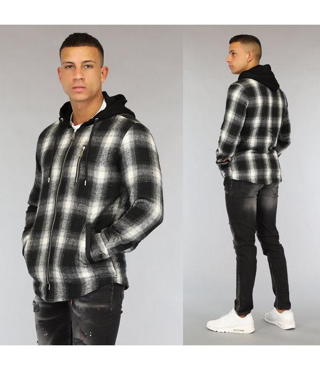 NEW0406 Zwart Heren Houthakkers Vest met Capuchon