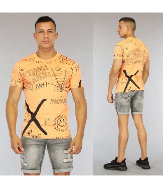 !OP=OP Oranje Hardcore Heren T-Shirt