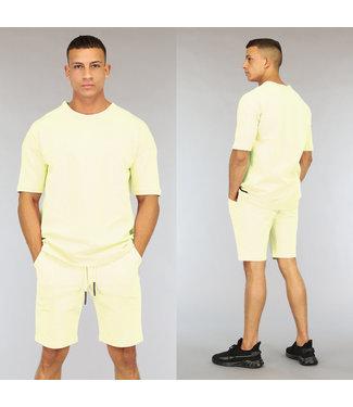 !OP=OP Oversized Gele Heren Short Set