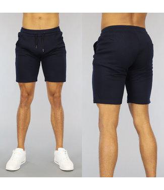 NEW0107 Basic Donkerblauwe Heren Jogger Short