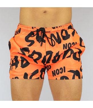NEW0807 Oranje Super Slim fit Heren Zwembroek