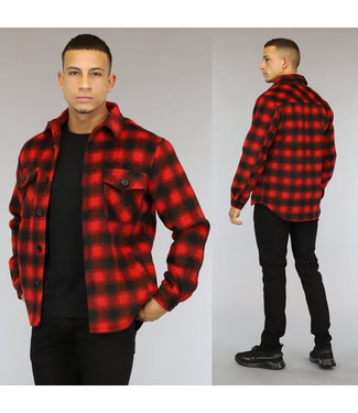 NEW0110 Rood Heren Houthakkers Overshirt