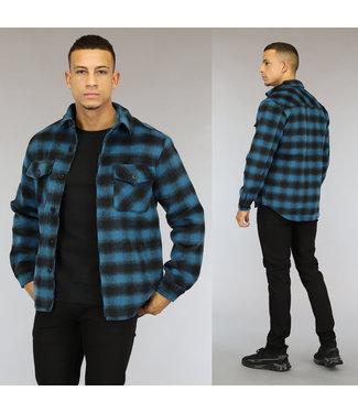 NEW0110 Blauw Heren Houthakkers Overshirt