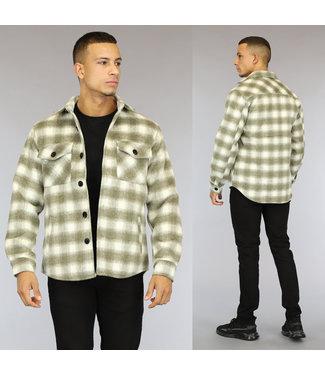 NEW0110 Taupe Heren Houthakkers Overshirt