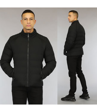 NEW0110 Basic Zwart Gewatteerd Heren Jack